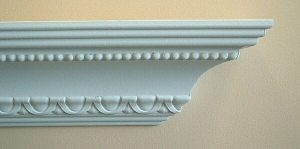patterned crown  moulding simple
